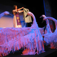 Swans by Andrew, design by Beth Peterson, Wild Swans, In the Heart of the Beast Theatre, 2003; photo by Bruce Silcox