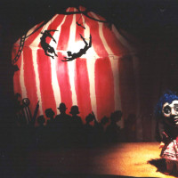 Frankenocchio co-produced and directed by Andrew; design by Brian Kooser, Monkey Wrench Puppet Lab, 2003; photo by Michelle Bates