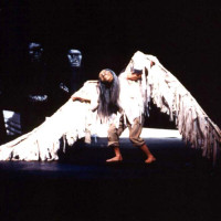 A Very Old Man with Enormous Wings adapted and directed by Andrew, design by Sandy Spieler, In the Heart of the Beast Theatre, 1997; photo by Rebecca Richards