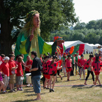4 metre tall festival goer