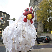 Plucky at Skipton Puppet Festival; photo by Ian Hodgson