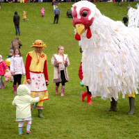 Plucky at Preston Egg Rolling; photo by Laura Cronin