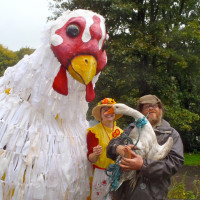 Plucky at Incredible Edible Todmorden Harvest Fest