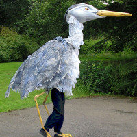 Giant heron for Faceless