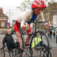 At the Stockton Cycling Festival; photo by Peter Jenkins
