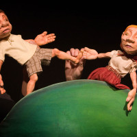 Boy and girl puppets; photo by Amanda Crowther