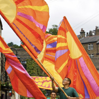 Sun banners, 2010; photo by Craig Shaw
