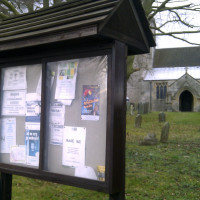 Lulu poster in Parish notices, Wickenby
