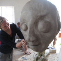 Sculpting the mermaid's head
