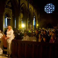 Church, performers and audience; photo by Craig Shaw