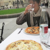 Always time for pizza in a beautiful piazza