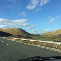 Driving north to Musselburgh
