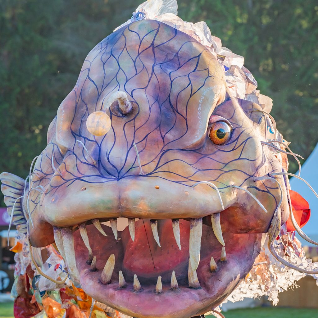 giant puppet, sea monster, monster, angler fish puppet, Cetus