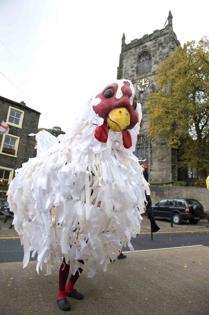 Giant chicken puppet